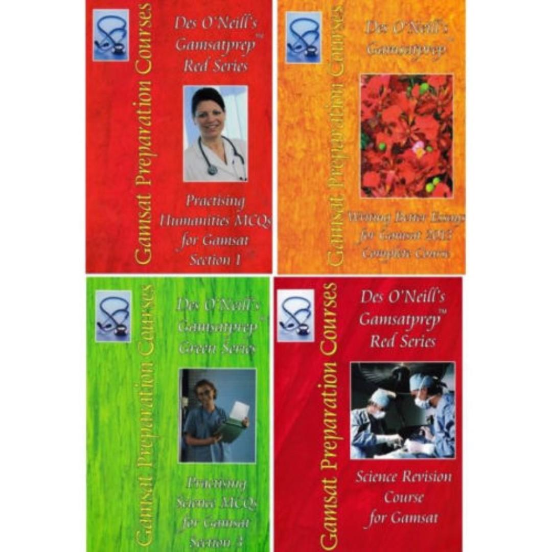 Gold Standard Gamsat 2018 - 2019 In Very Good condition + ACER Practice e-Papers + Des O'Neill e-Textbooks (CAN POST)