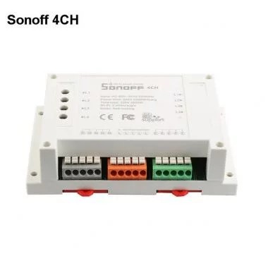 [HG135] Sonoff 4CH - 4 Channel Din Rail Mounting WiFI Switch