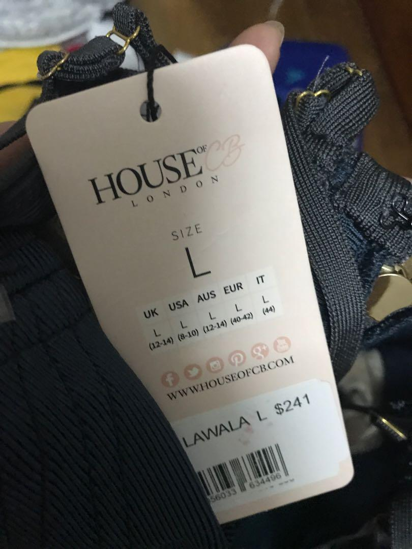 House of CB London Lawala Dress Size L New with tag