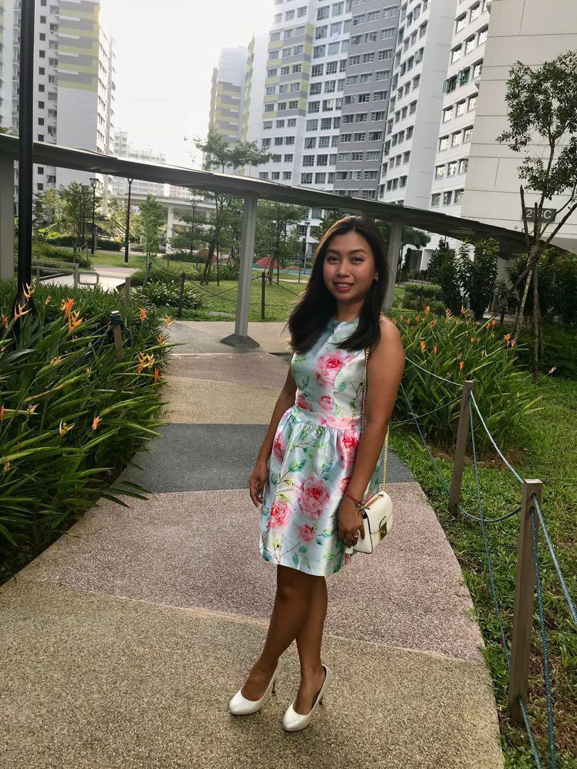 Intoxiquette floral dress