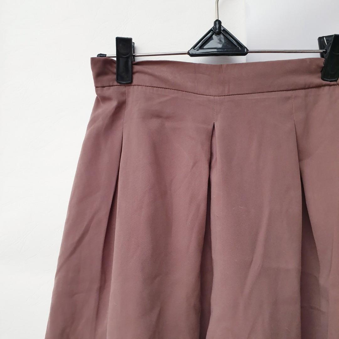 Kulot Coklat knee length