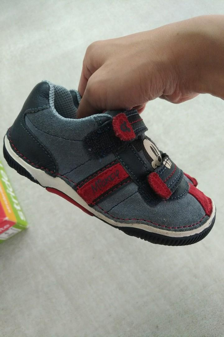 Little boys Stride Rite Mickey shoes