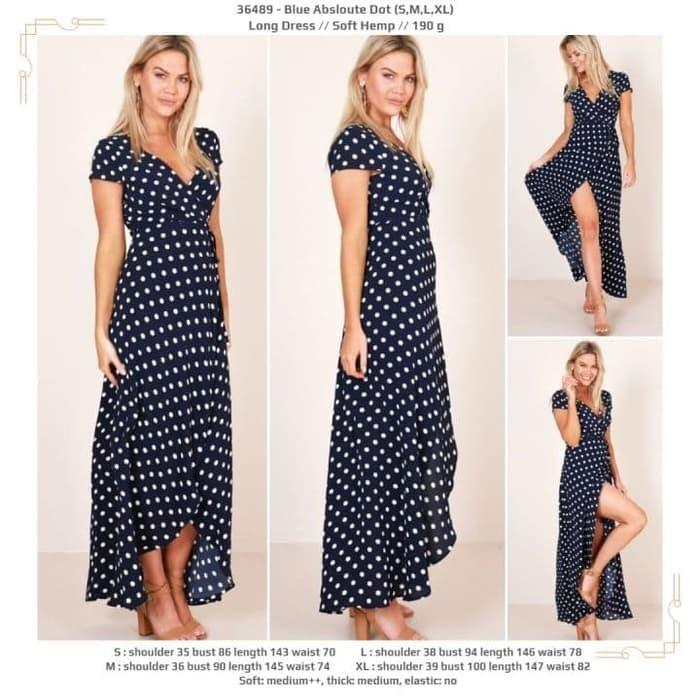 Long Dress 36489 - Blue Absloute Dot