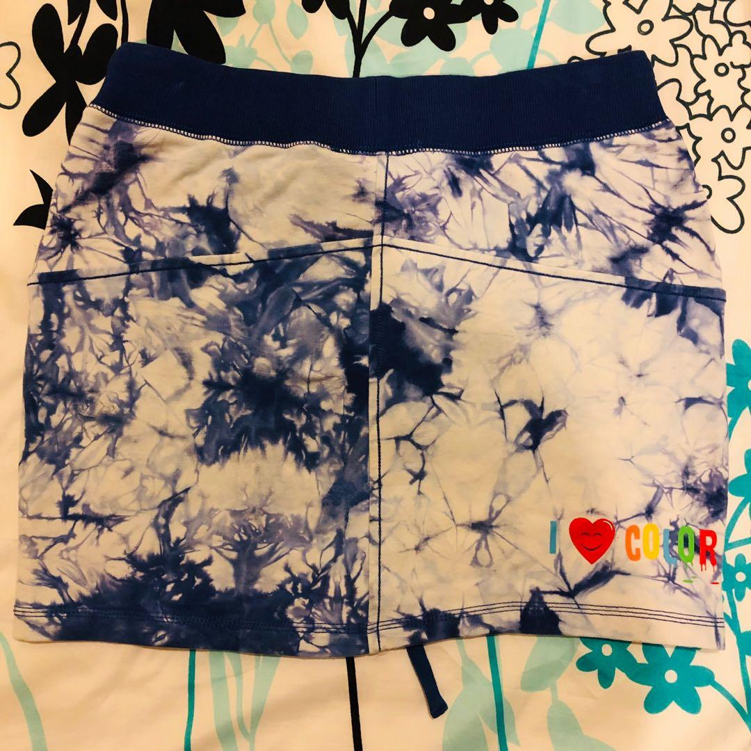 Marble Blue Cotton Skirt