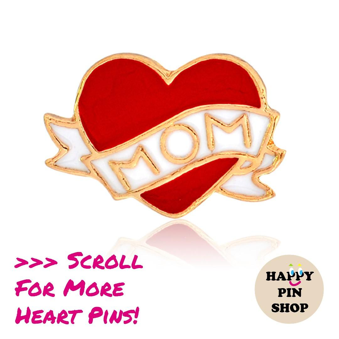 Happy Mother's Day Enamel Pins!