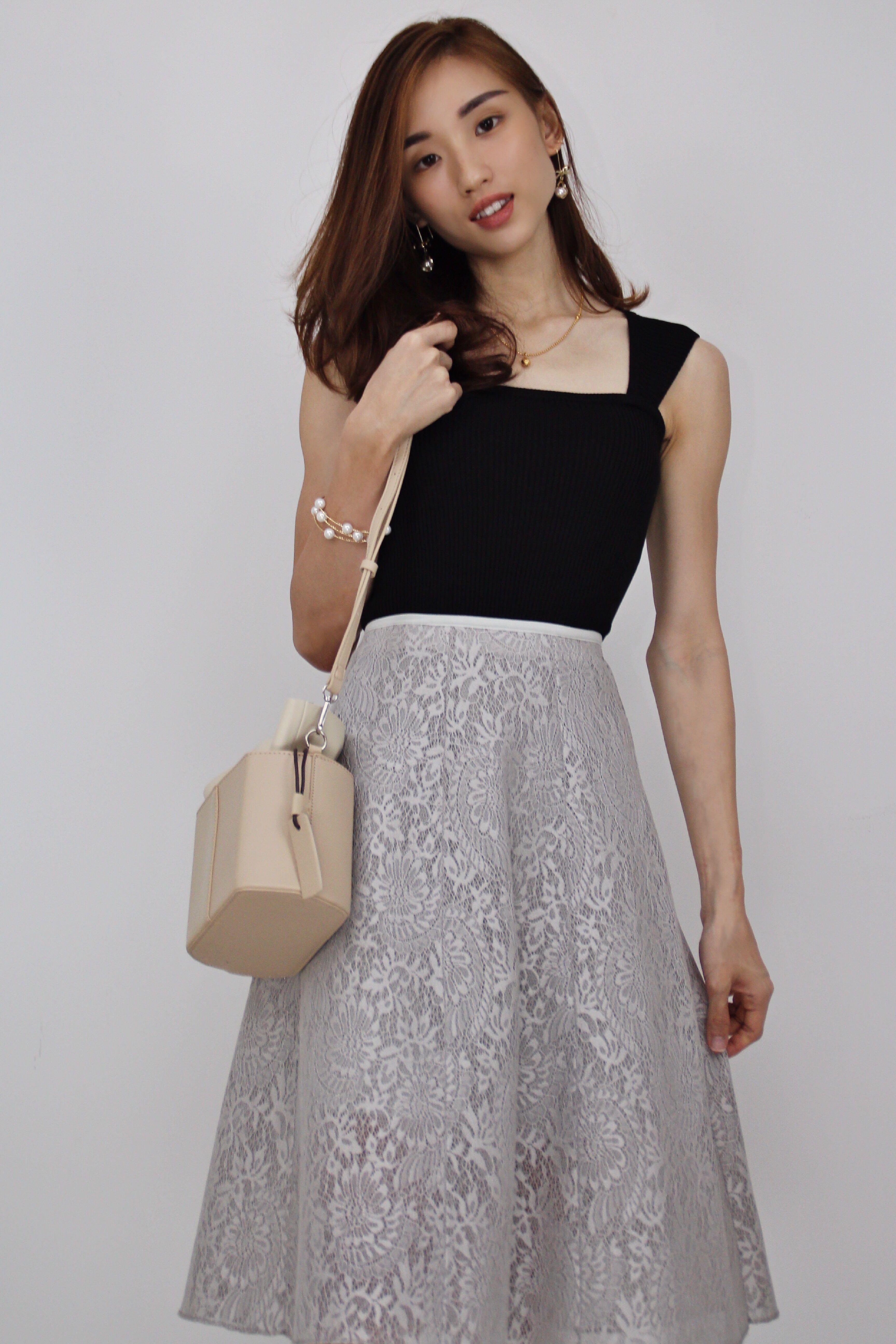 9aadc3d6f30e8 Nina Midi Lace Skirt, Women's Fashion, Clothes, Dresses & Skirts on ...