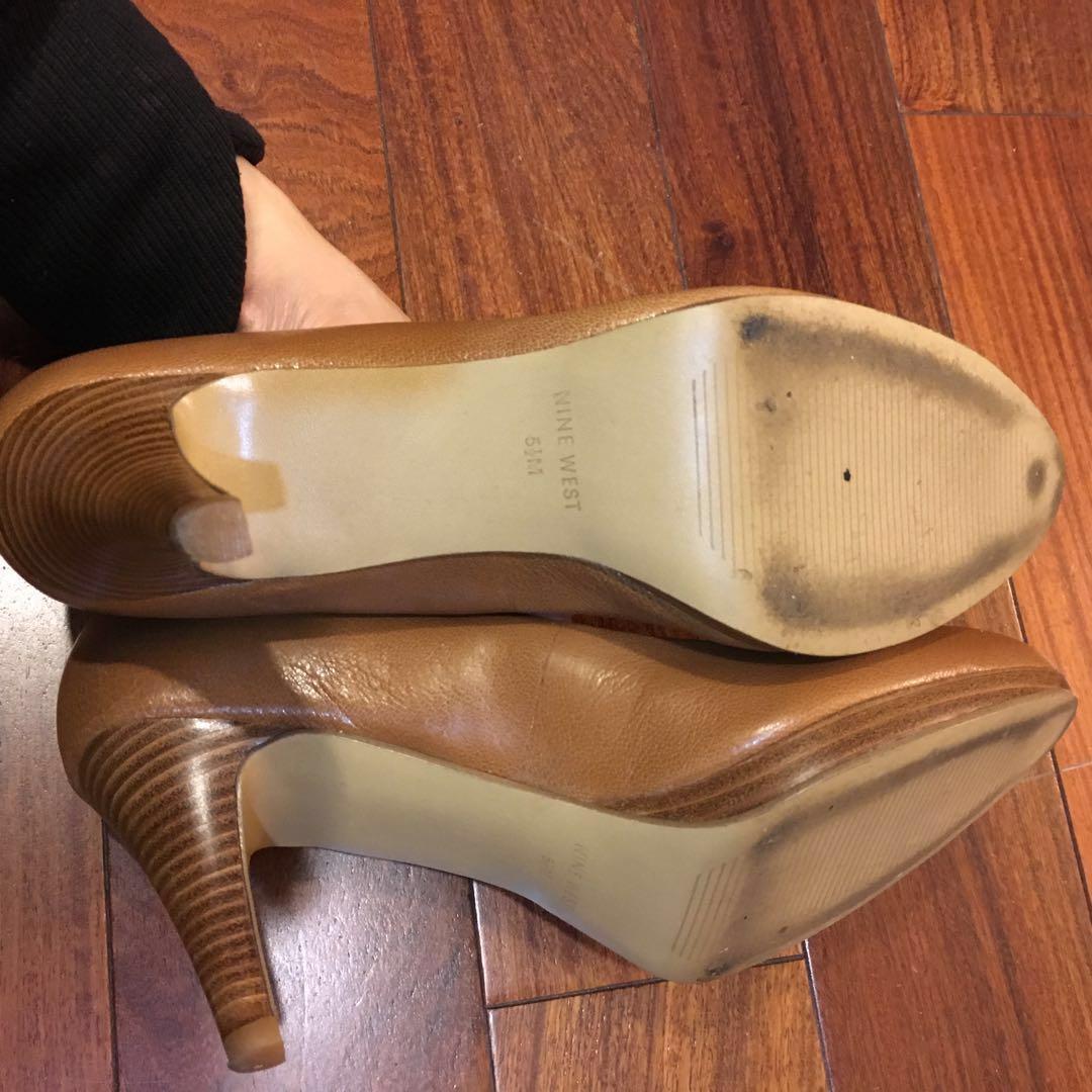 Nine West棕色高跟鞋