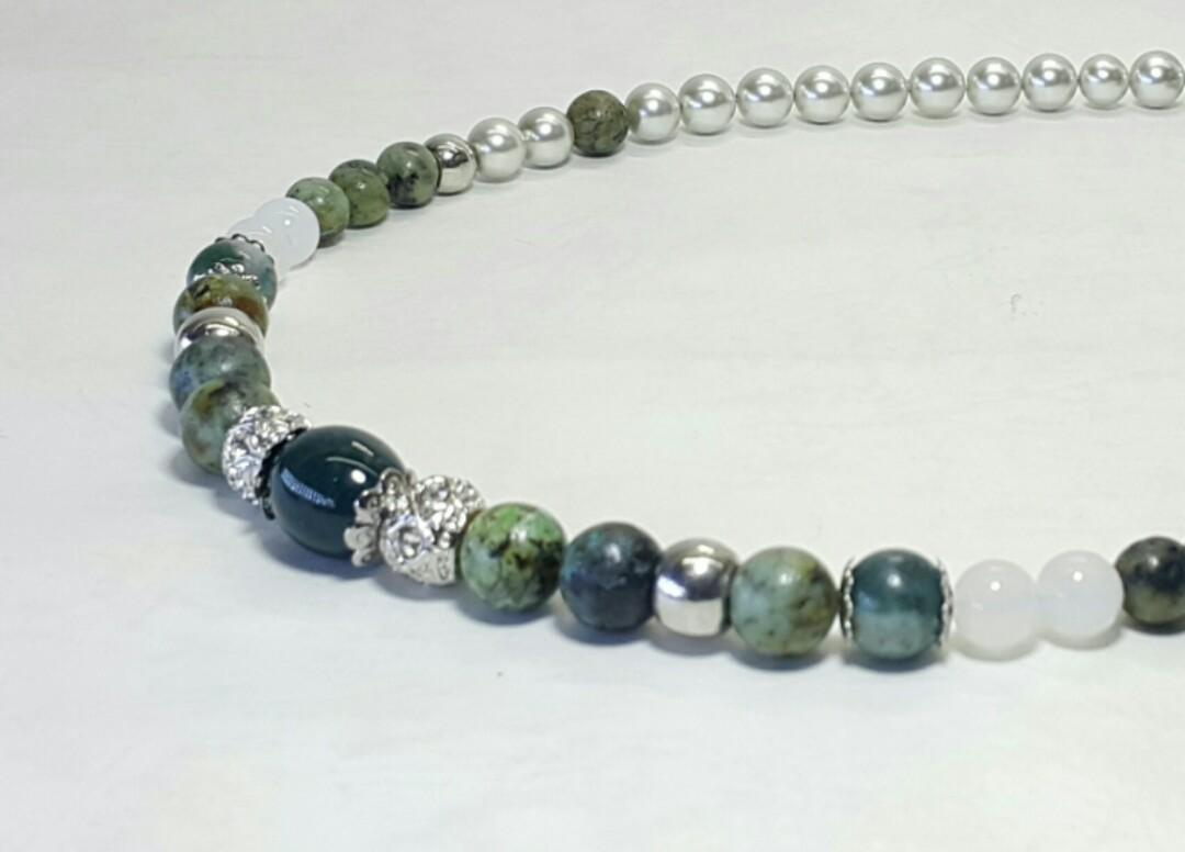 Olive Beaded Necklace
