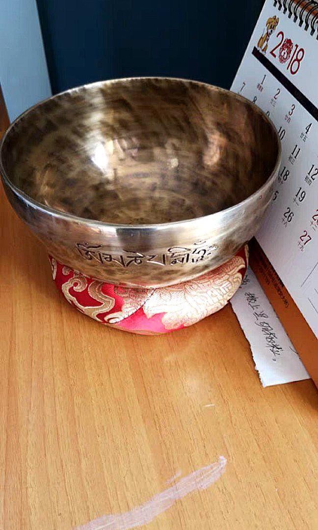 """尼泊爾手工頌缽/瑜伽滿月缽""""Om""""音訂制 Singing Bowl """"Om"""""""