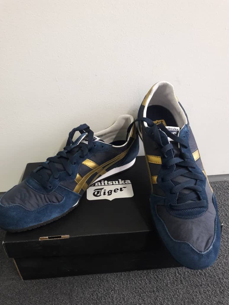 info for 9eaf7 30002 Onitsuka Tiger Dark Blue & Gold (2 sizes available)