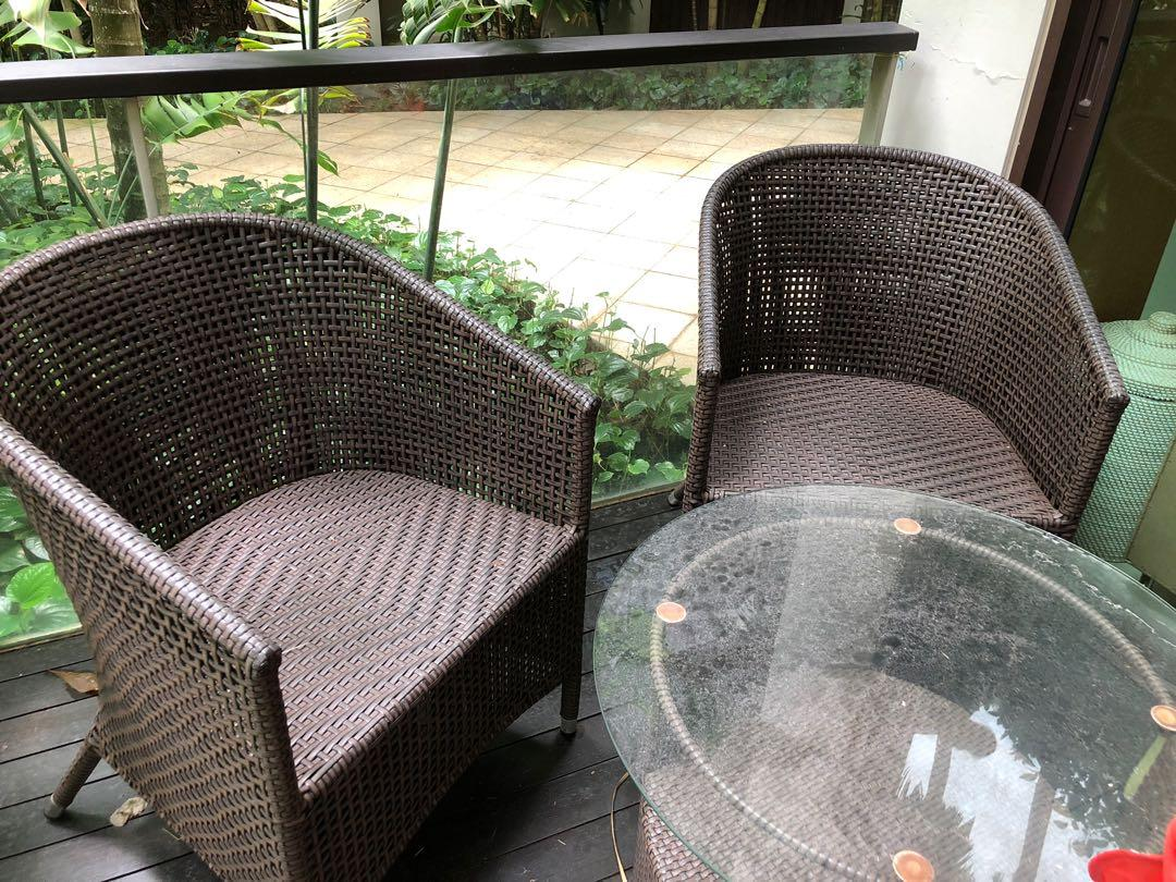 Outdoor furniture- very good condition with cushions