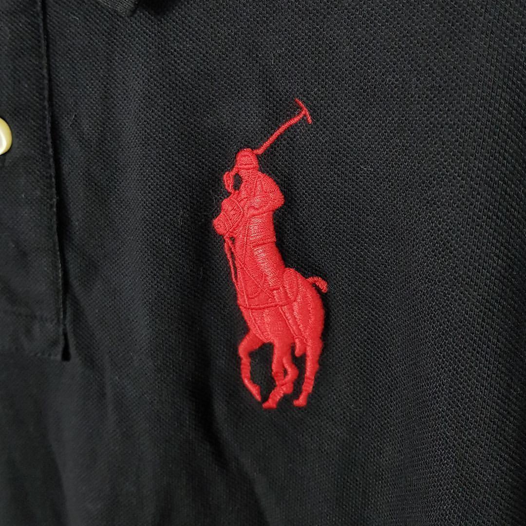 Polo Ralph Lauren Long Sleeve Polo Big Pony Custom Fit Black