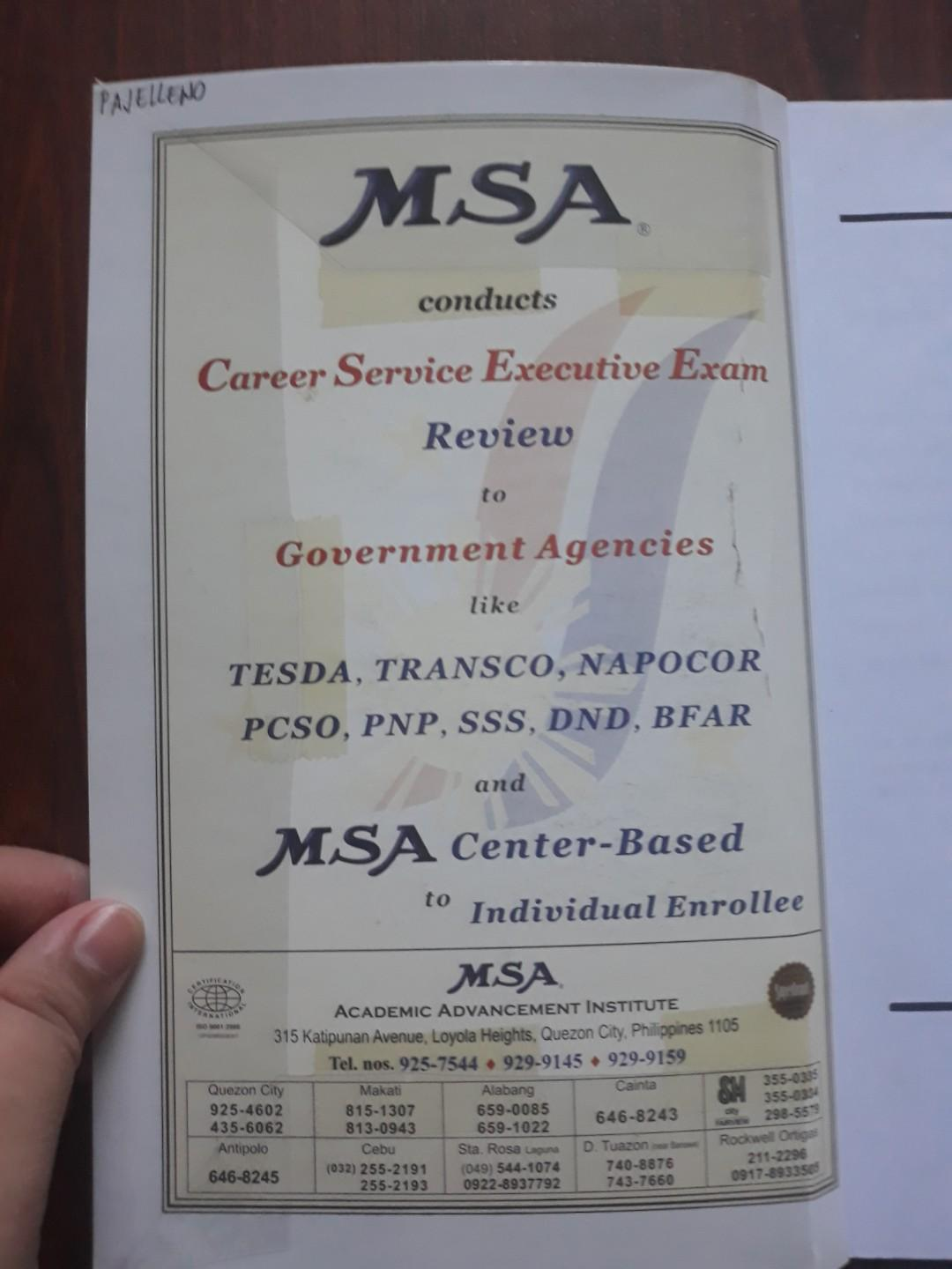 PRELOVED MSA LICENSURE EXAMINATION FOR TEACHERS REVIEWER (Dark red small book)