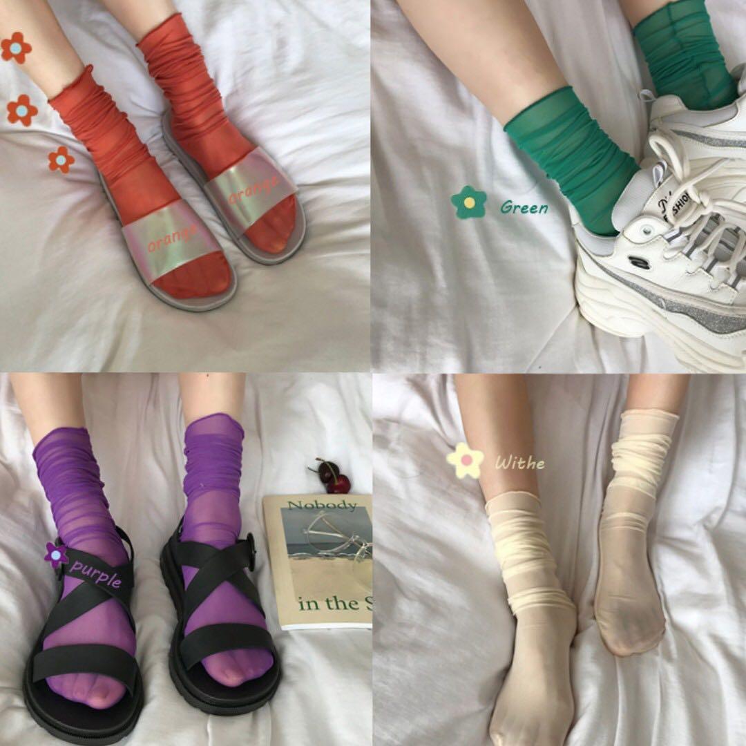 Sheer Long Socks