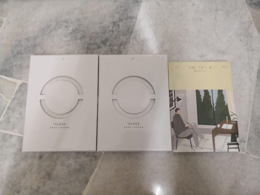 STOCK ARRIVAL - JIHOON O'CLOCK ALBUM/CHEN APRIL, AND A FLOWER