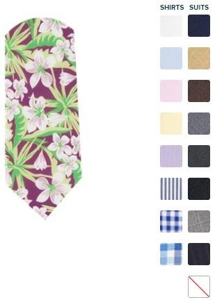 The Tie Bar Tropic of Linen Tie - Floral - BRAND NEW