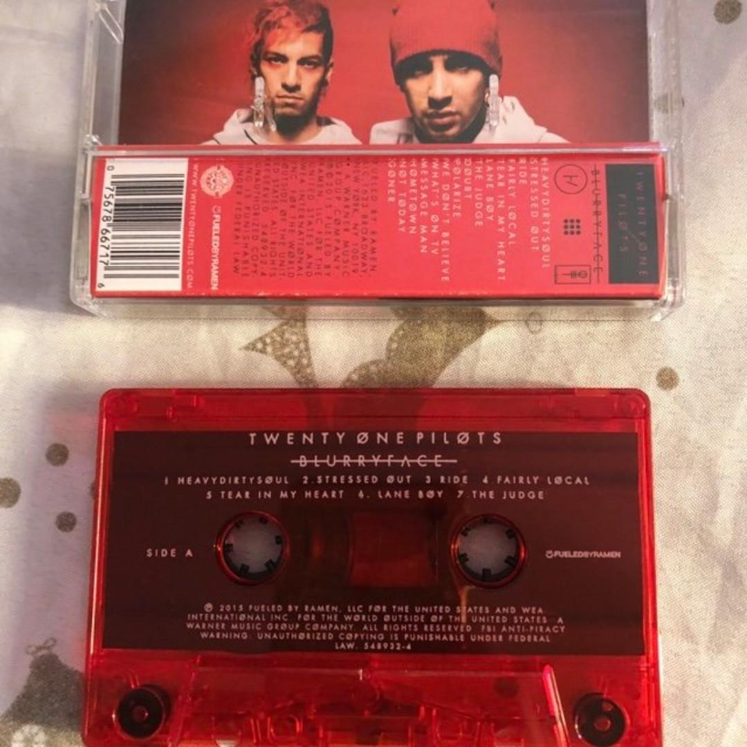 Twenty One Pilots - Blurryface Cassette Limited Edition in Clear Red