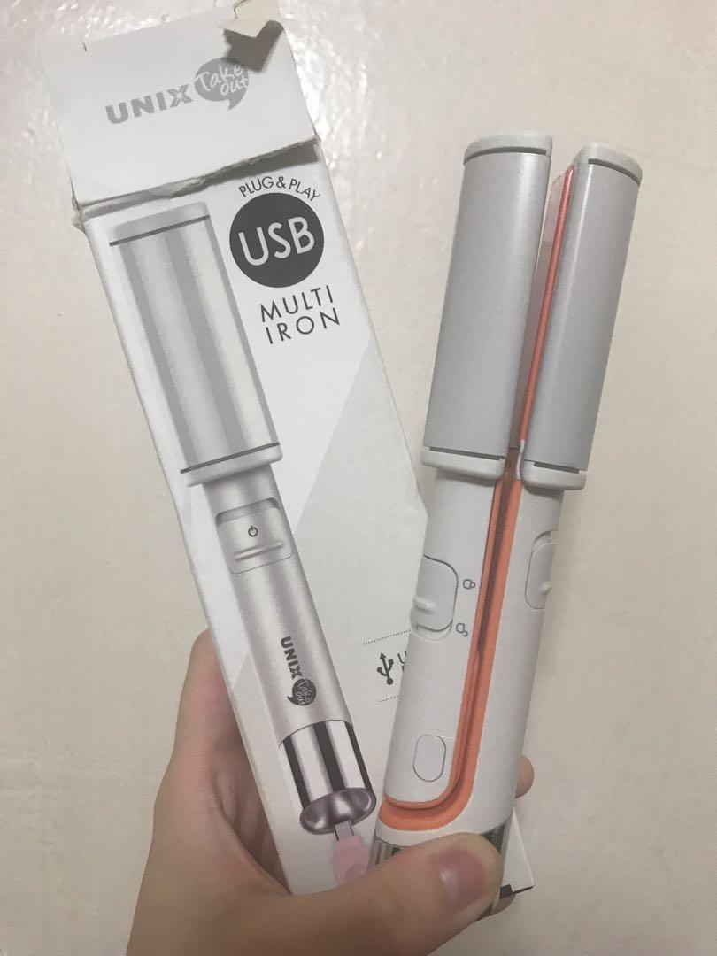 韓國Unix迷你USB插電曲直髮夾
