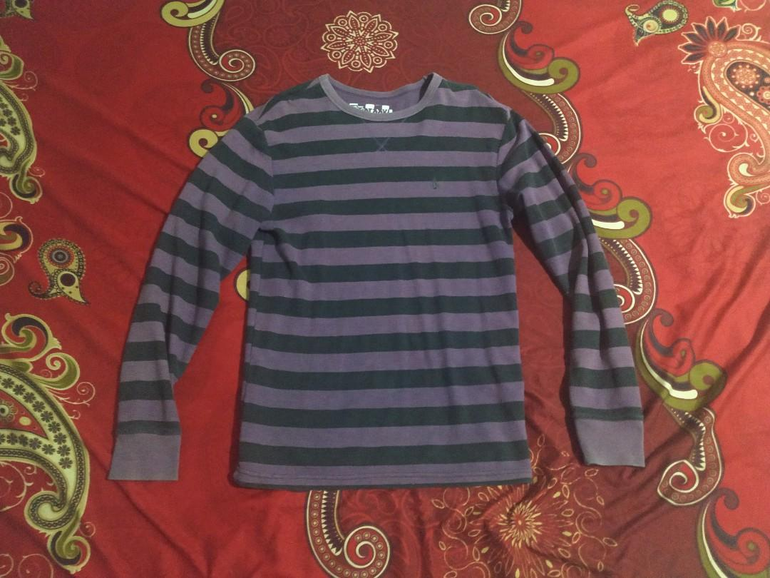 Volcom striped purple thermal sweaters long sleeve original
