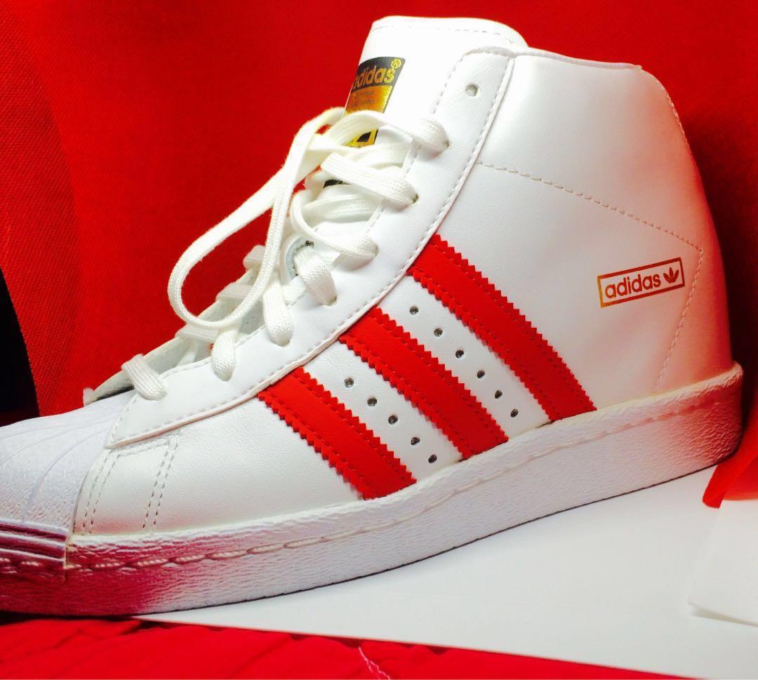 adidas superstar high top red