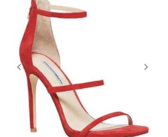 Women's Windsor smith Cynthia RED 3 strap heels size 9
