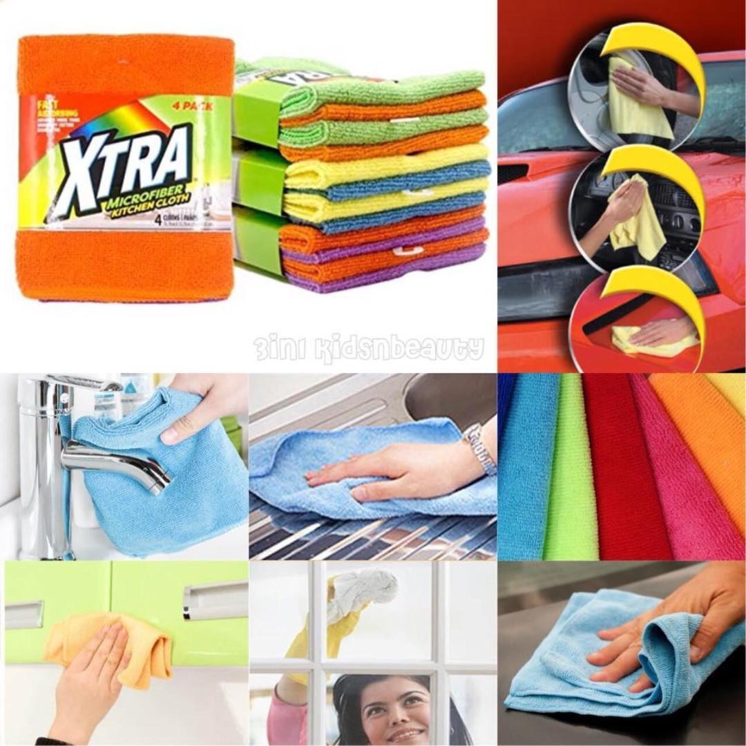 XTRA 超細纖維清潔抺布 (一PACK4條)