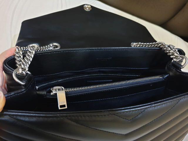 """YSL LOULOU MEDIUM BAG IN BLACK """"Y"""" MATELASSÉ LEATHER  neverbeen Used like a new, complete set"""