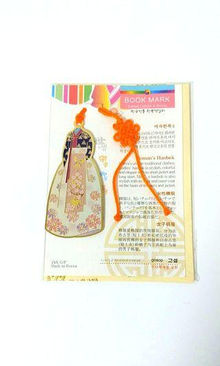 [NEW] 24K Gold Plated Hanbok Bookmark