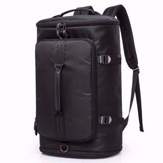 Black UniSolo Multi Purpose Travel Backpack/ Haversack/ Bag - With Bottom Shoe Compartment! - New