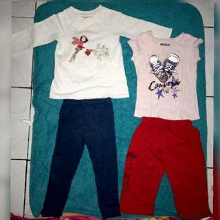 Take it all, 2-4 y ( oshkosh putih & convers kaos pink)