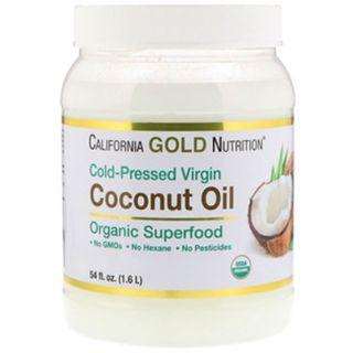 AVAIL California Gold Nutrition, Cold-Pressed Organic Virgin Coconut Oil, 54 fl oz (1.6 L)