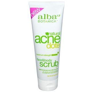 AVAIL Alba Botanica, Acne Dote, Face & Body Scrub, Oil-Free, 8 oz (227 g) SALE