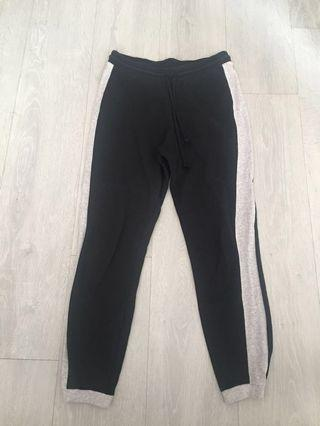 Black joggers with side stripe #ENDGAMEyourEXCESS