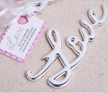 Gold Love & Rustic Vintage Skeleton Key Bottle Opener in ribbon gift souvenir box x 4