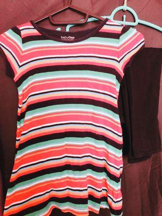 Baby GAP Stripe Top Playtime Toddler with Legging