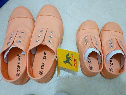 粉橘 親子鞋