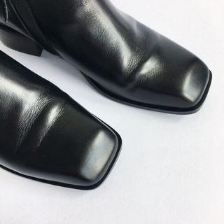 🚚 leme黑方頭短靴折半價賣