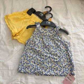 Mothercare ditsy floral top & shorts set