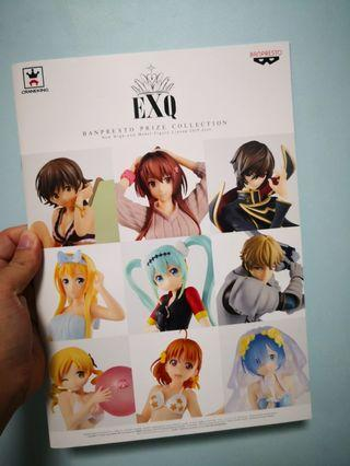 EXQ BANPRESTO PRIZE COLLECTION BOOKLET 2019