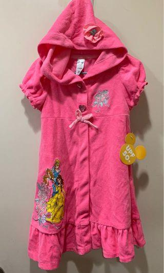 Disney 公主浴袍 沙灘袍