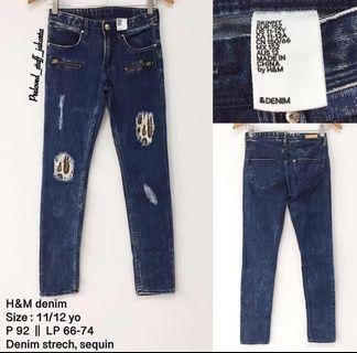 NEVER BEEN USED. JEANS H&M ANAK2