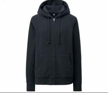 Unisex Black Zip Up Hoodie