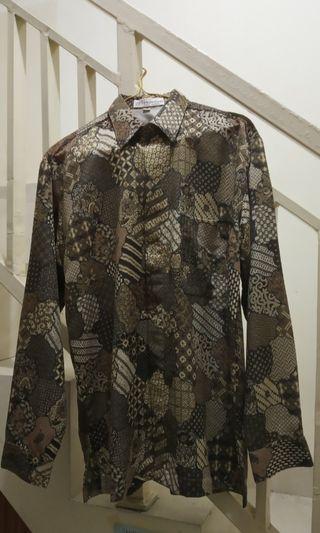 Kemeja Batik lengan panjang mewah premium