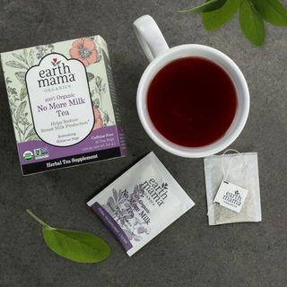 Earth Mama 100% Organic No More Milk Tea Refreshing Hibiscus Sage (16 Tea Bags)