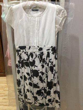 Midi Dress Contempo Black and White