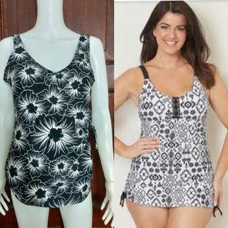 L-XL floral swimdress swimsuit