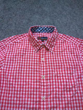 SUGGESTION Red Gingham Shirt Long Sleeve Size M