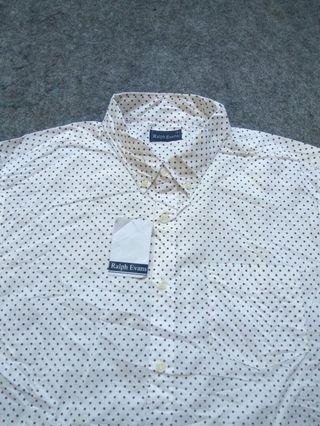 RALPH EVANS Button-down Print Cotton Shirt Long Sleeve