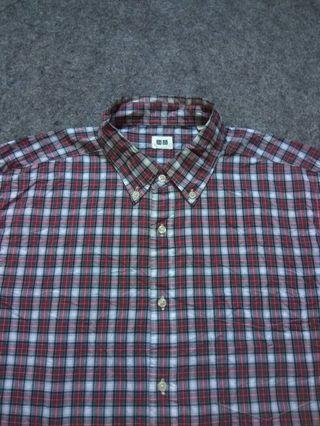 UNIQLO Button-down Plaid Shirt Long Sleeve Size XL