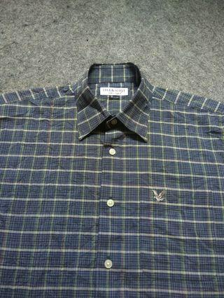 LYLE & SCOTT Plaid Shirt Short Sleeve Size M